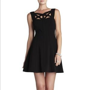 BCBG Yasminka Black A Line Cocktail Dress